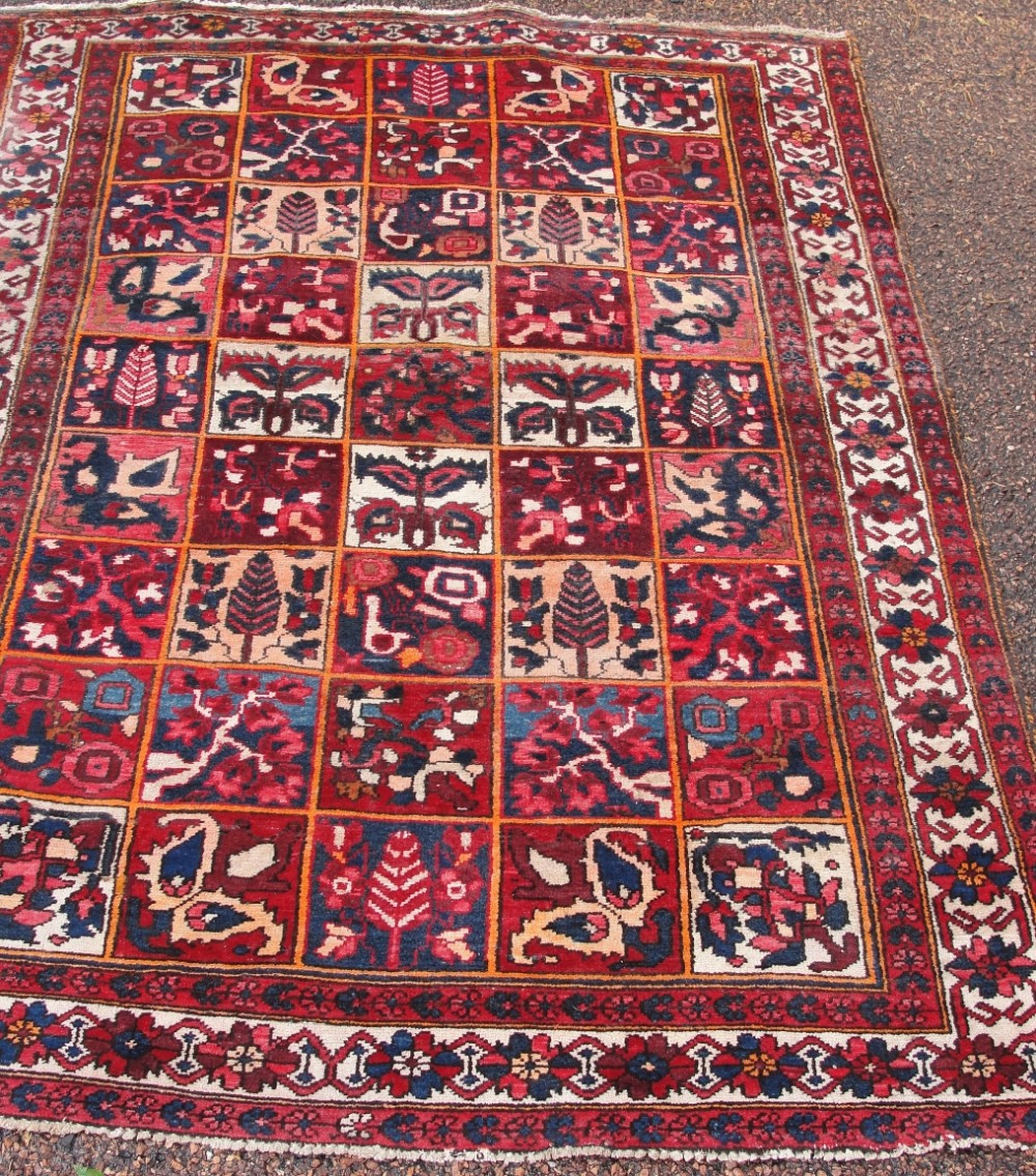 antique persian bactiari rug circa 1920