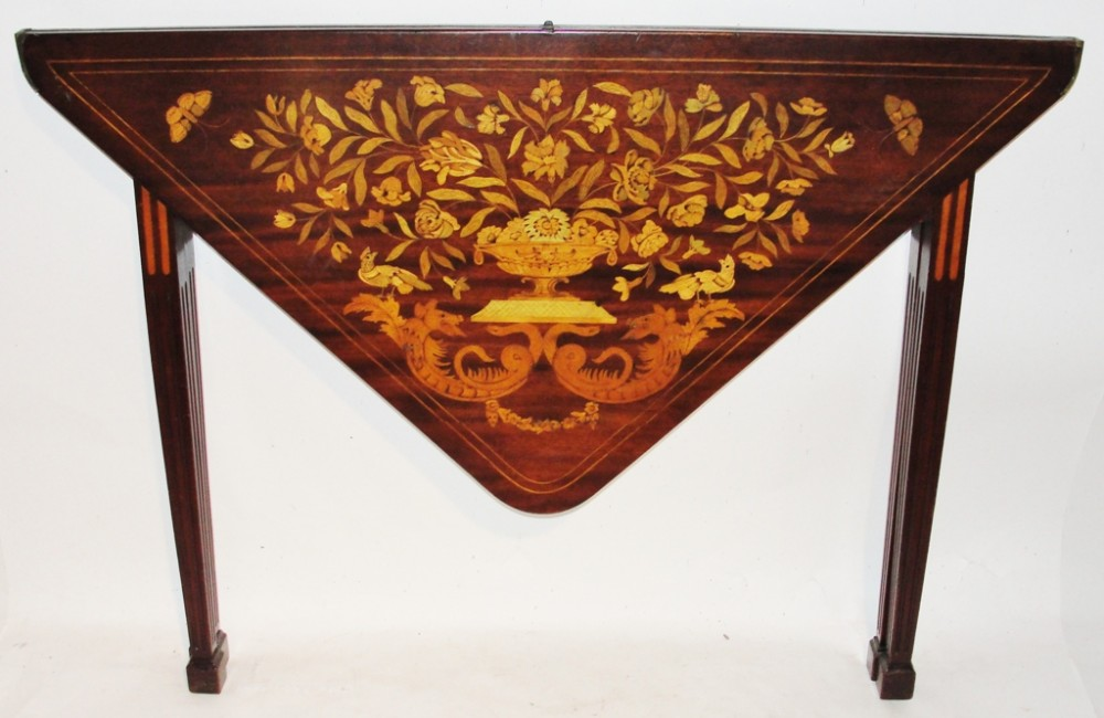 dutch mahogany marquetry card table circa 1790