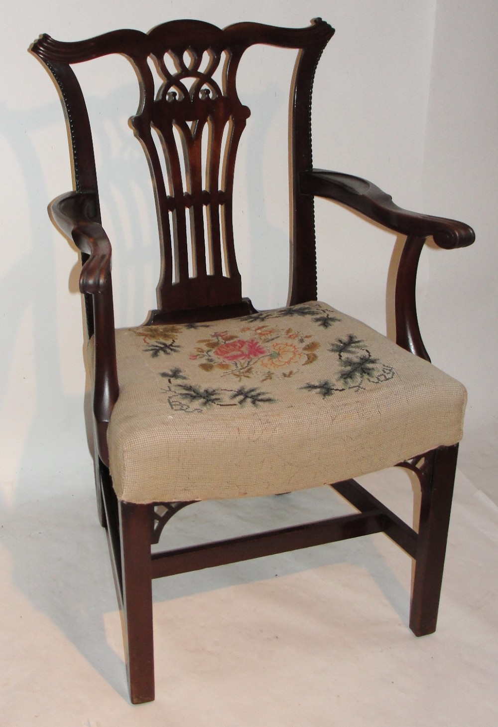 georgian mahogany elbow chair circa 1770