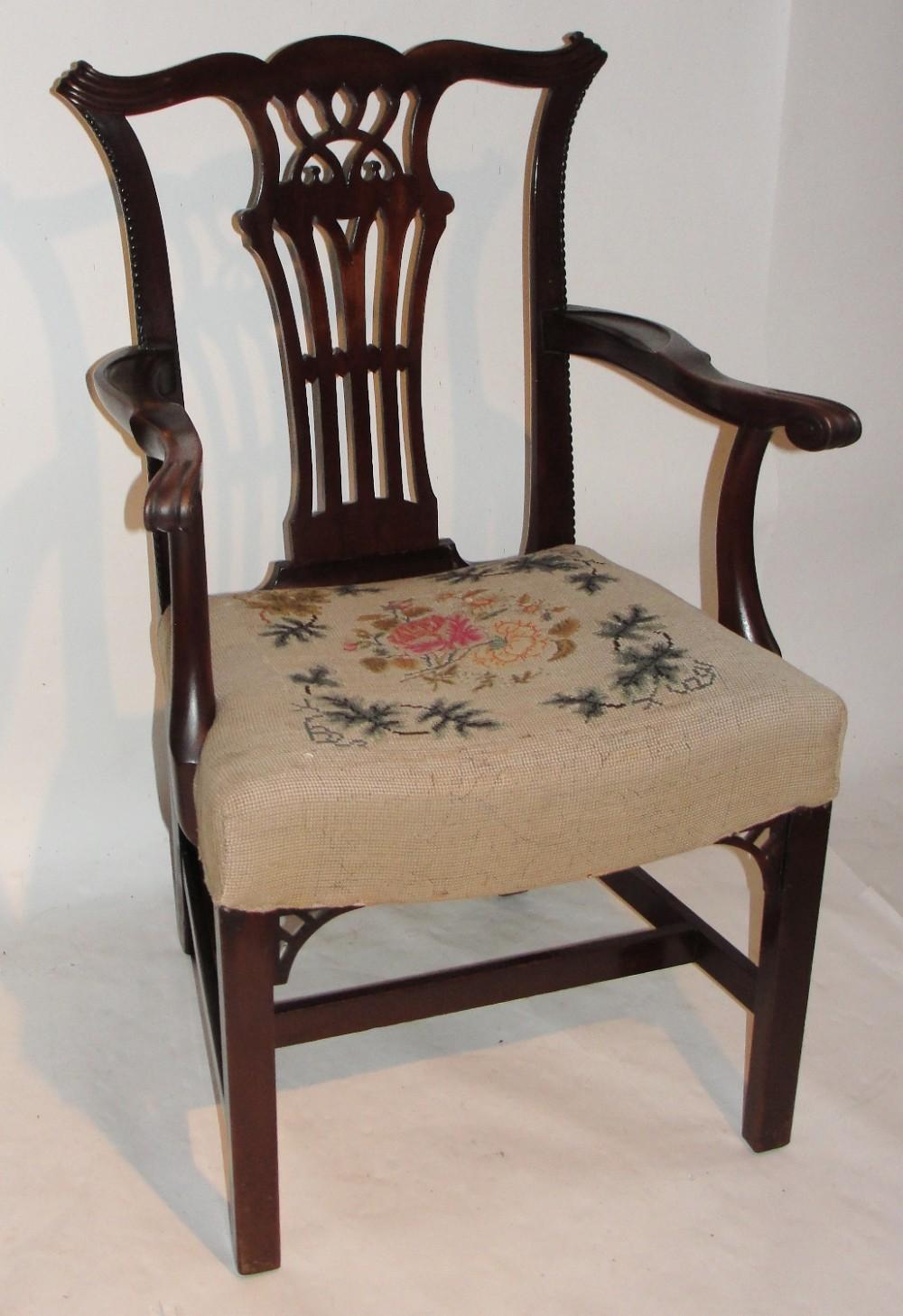 georgian mahogany elbow chair circa 1770