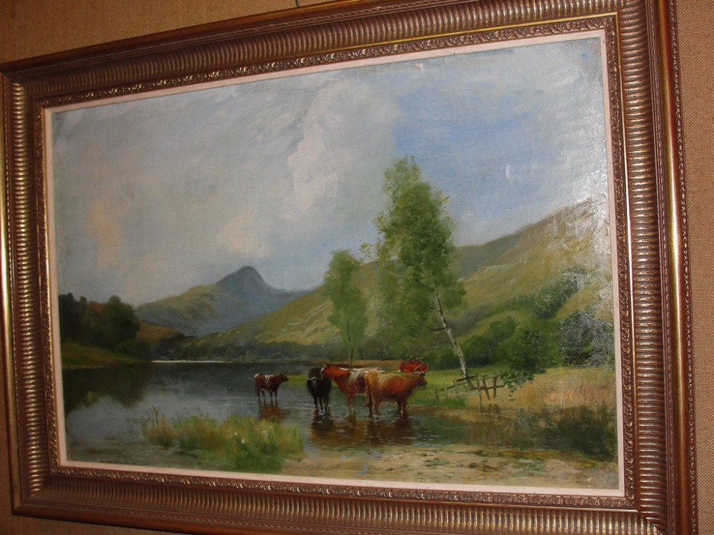 victorian scottish highland oil on canvas by stuart murray dated 1891