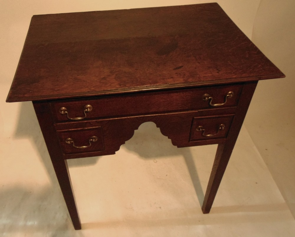 georgian welsh oak lowboy circa 1770