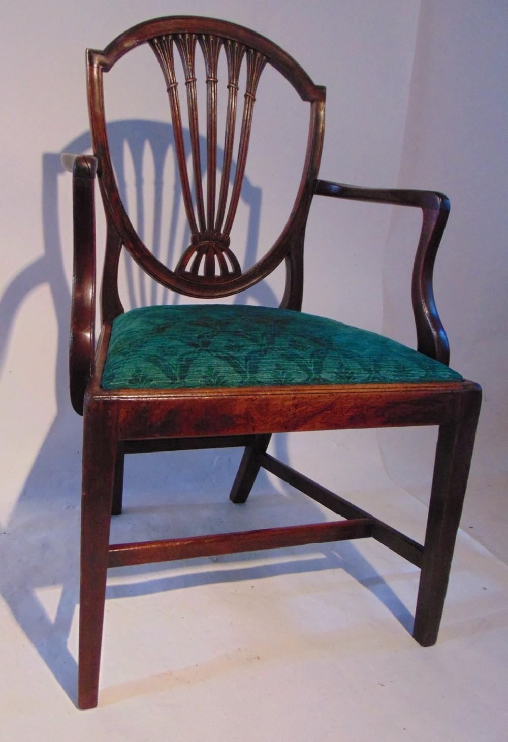 georgian mahogany elbow chair circa 1780