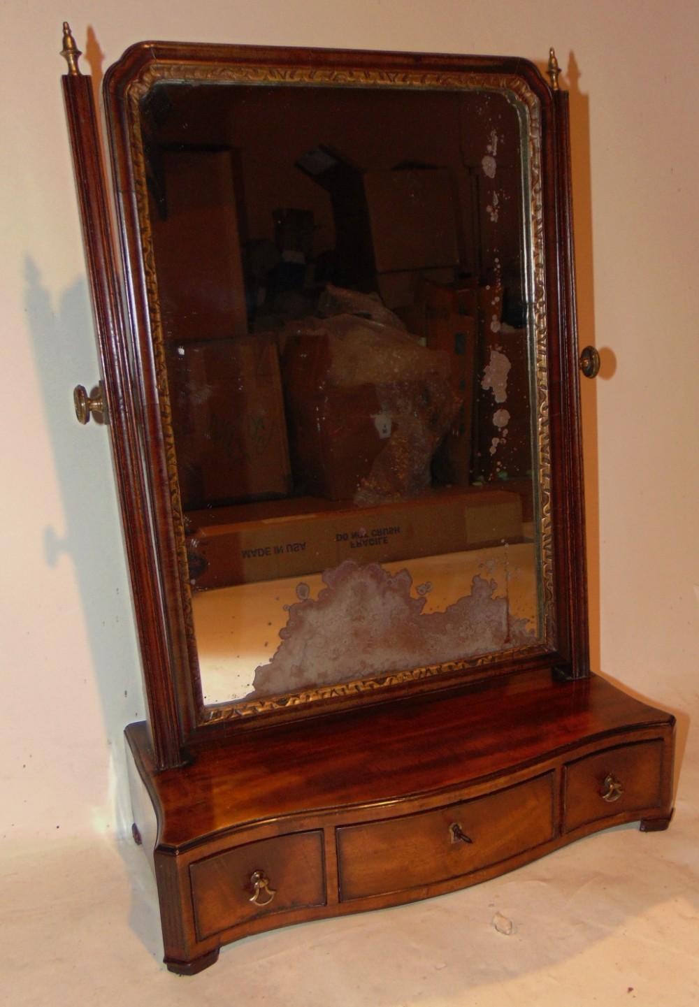 georgian mahogany toilet mirror circa 1770