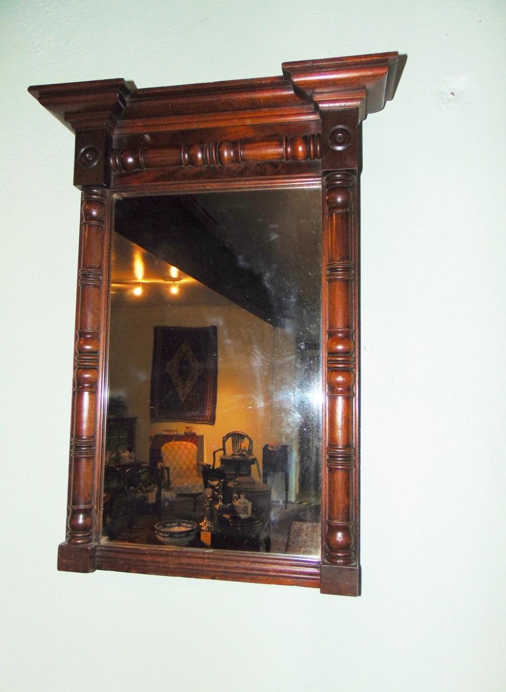regency mahogany pier mirror circa 1820