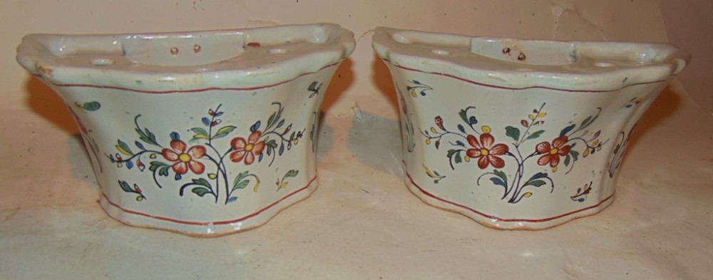 pair french faience bough pots circa 1820