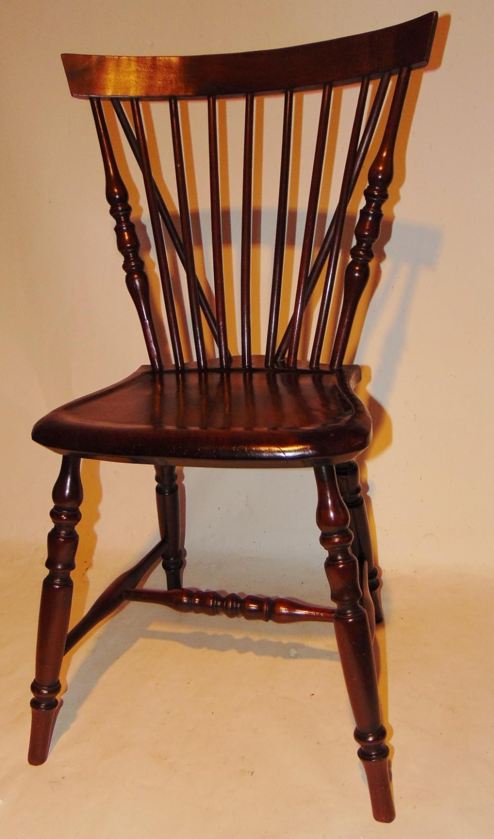 american cherrywood windsor chair circa 1850
