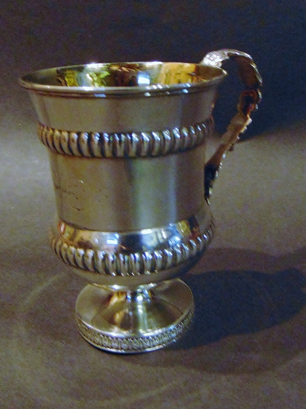 georgian silver footed cup 1814