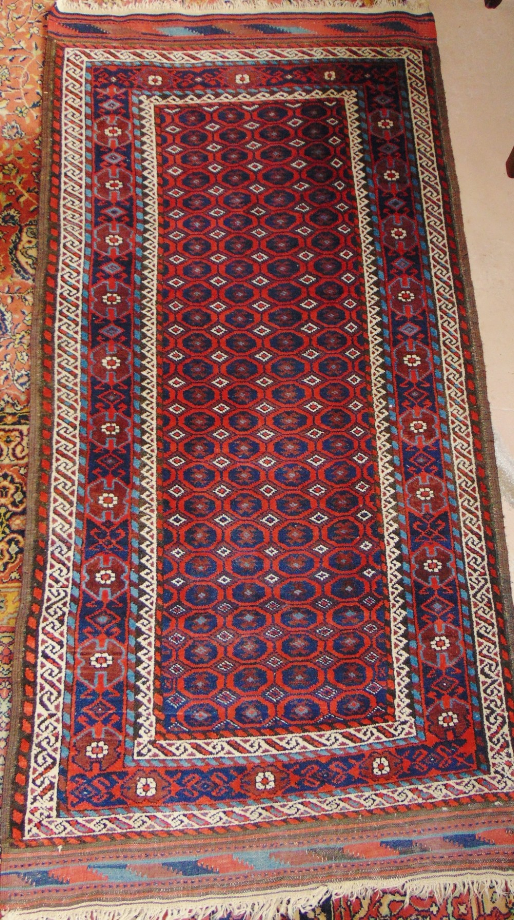 antique persian balouche rug circa 1910
