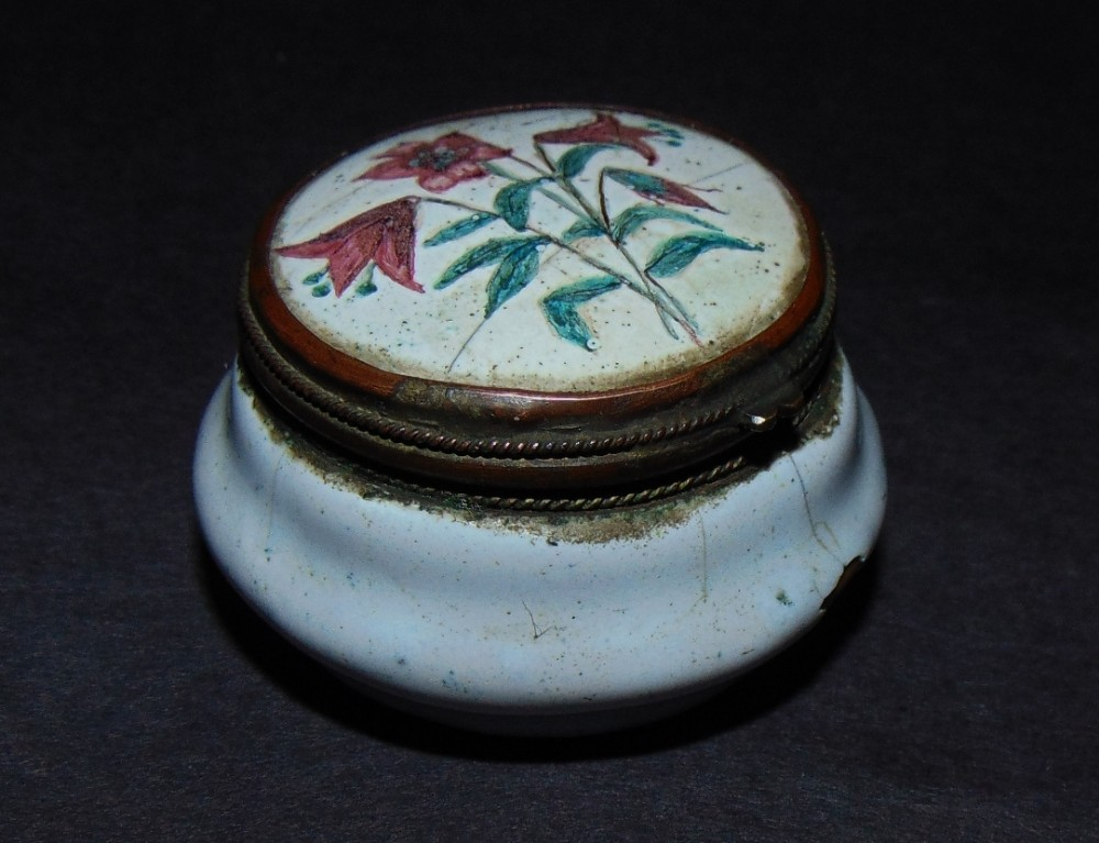 georgian bilston enamel patch box circa 1775