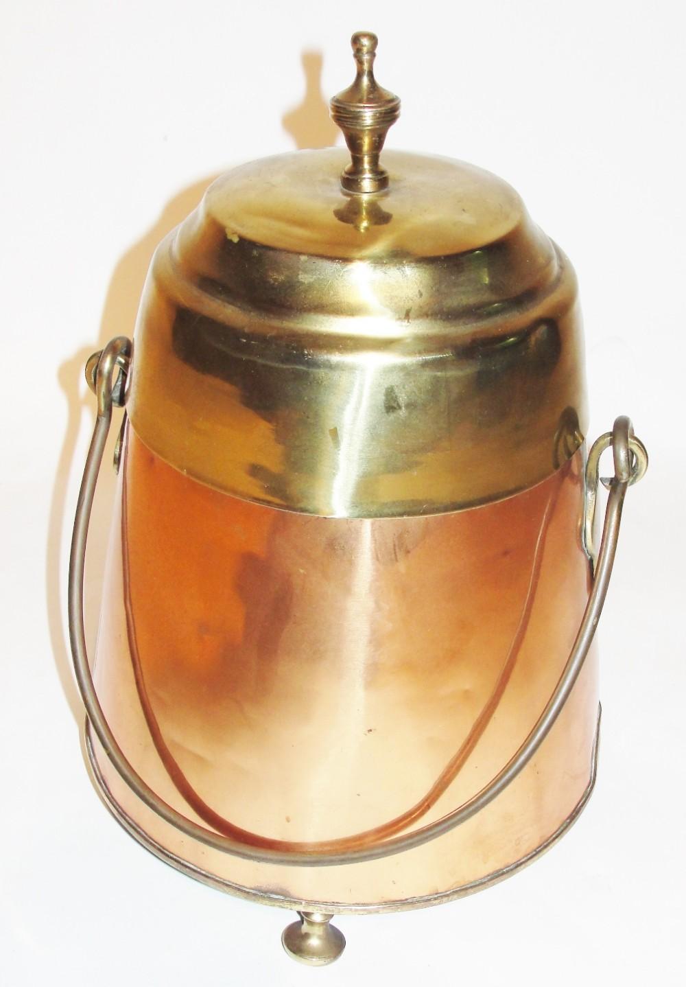 georgian dutch copper and brass dough pot circa 1830