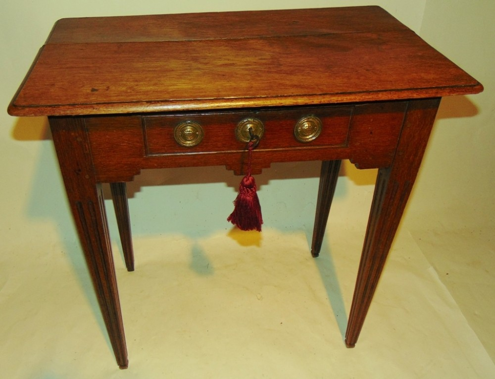18th century dutch oak side table circa 1780