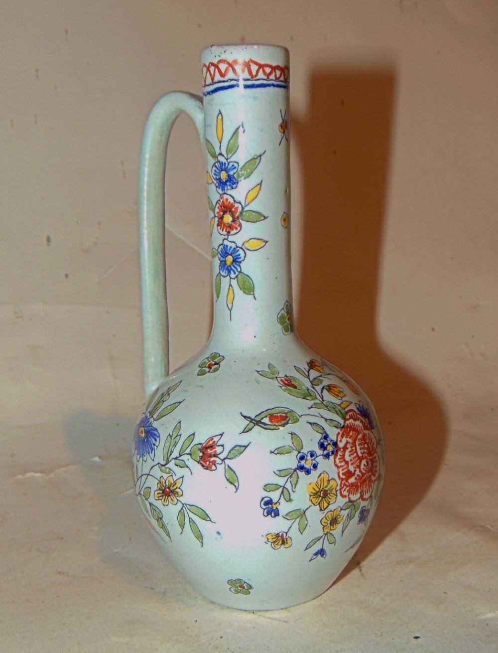 18th century french faience tall bottle circa 1770