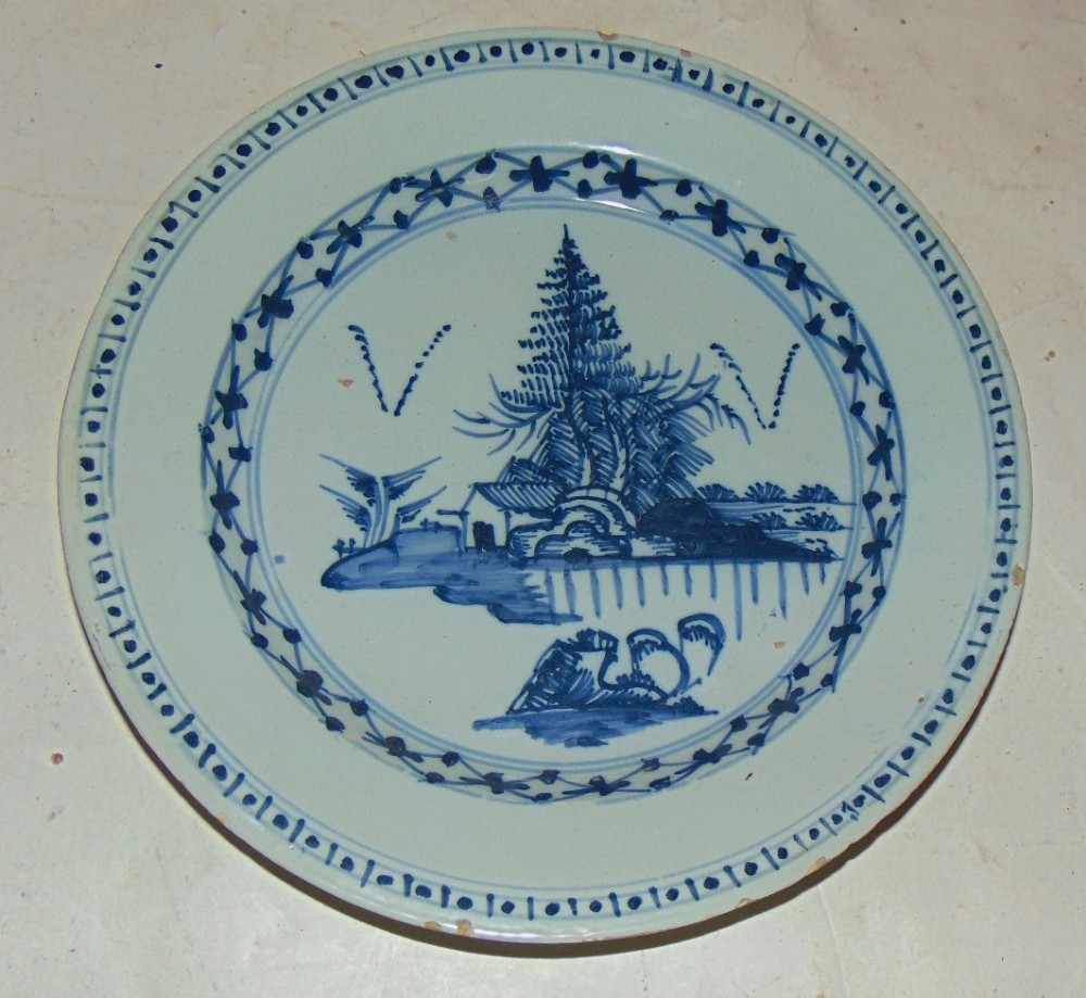 bristol delft plate circa 1760