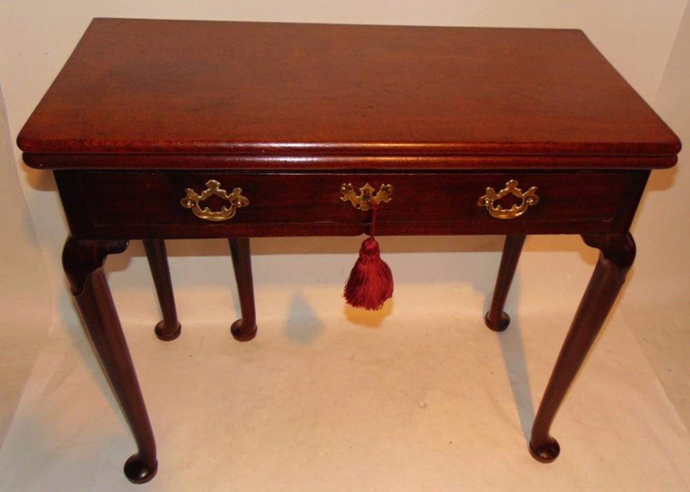george ii red walnut cabriole leg tea table circa 1750