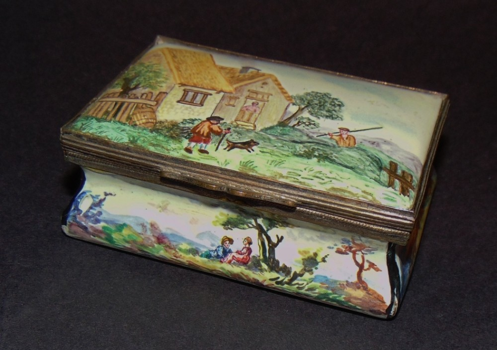 georgian staffordshire enamel patch box circa 1790