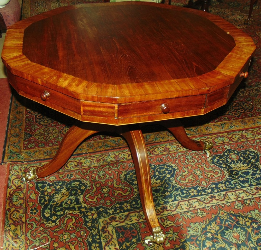 georgian mahogany drum table circa 1800