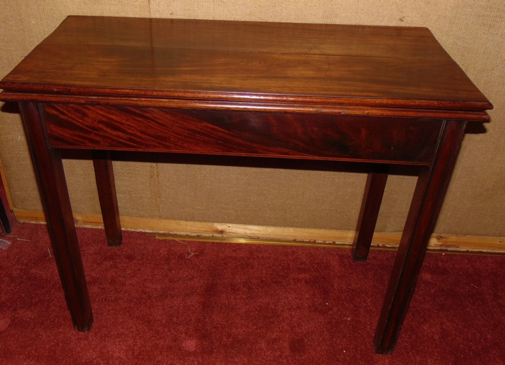 georgian mahogany tea table circa 1770