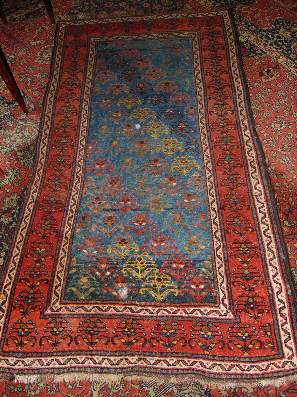 antique persian kurdish rug circa 1900