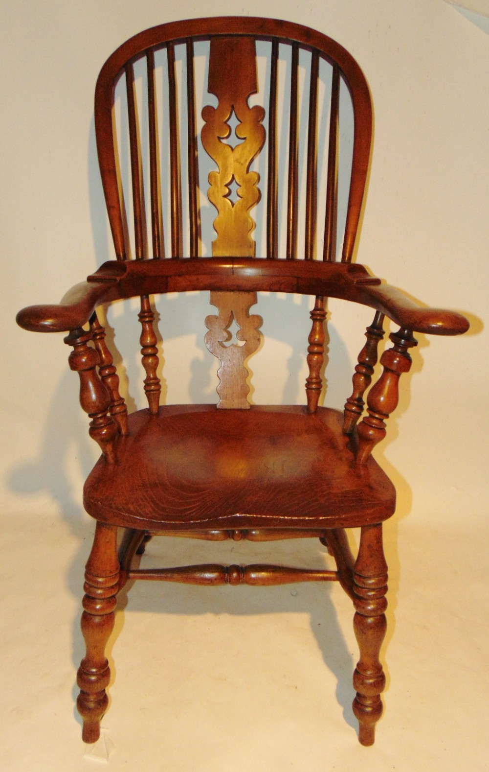 chunky yorkshire fruitwood windsor chair circa 1850