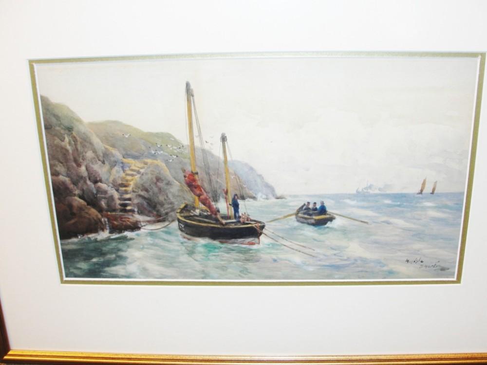 edwardian watercolour may isle by david martin circa 1910
