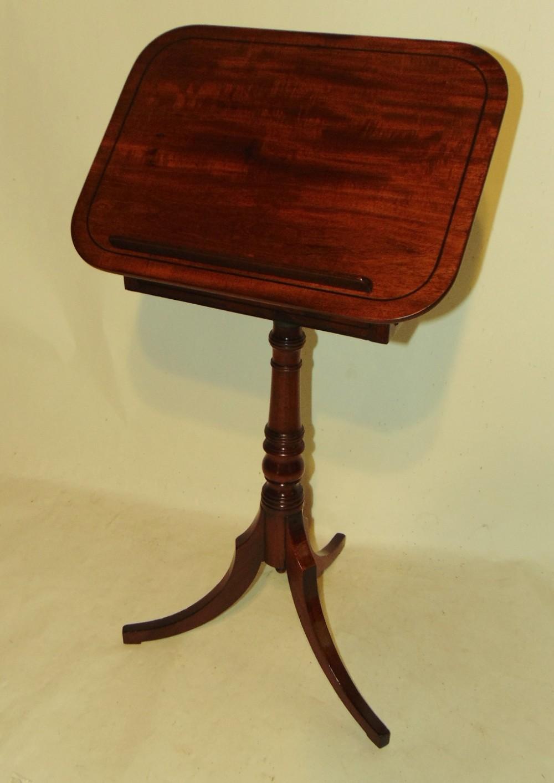 georgian mahogany adjustable reading table circa 1810