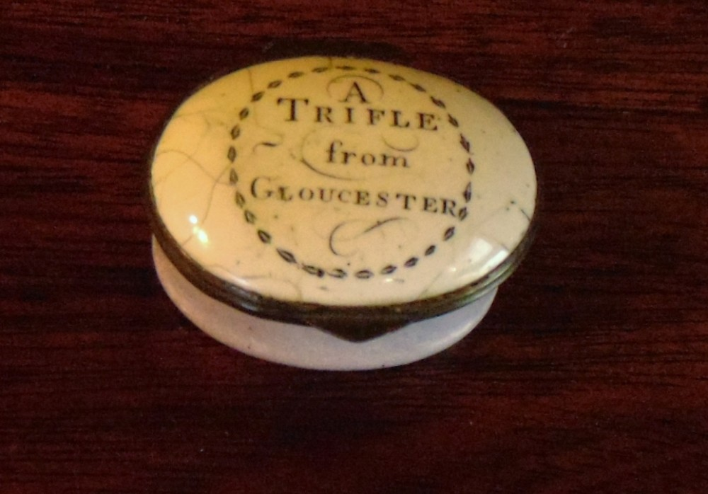 georgian battersea enamel box a trifle from gloucester circa 1775