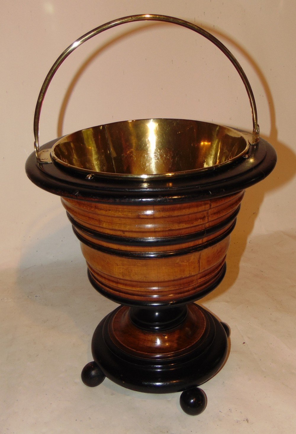 dutch fruitwood tea bucket circa 1810