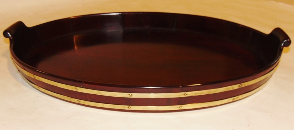 georgian mahogany brass bound tray circa 1810