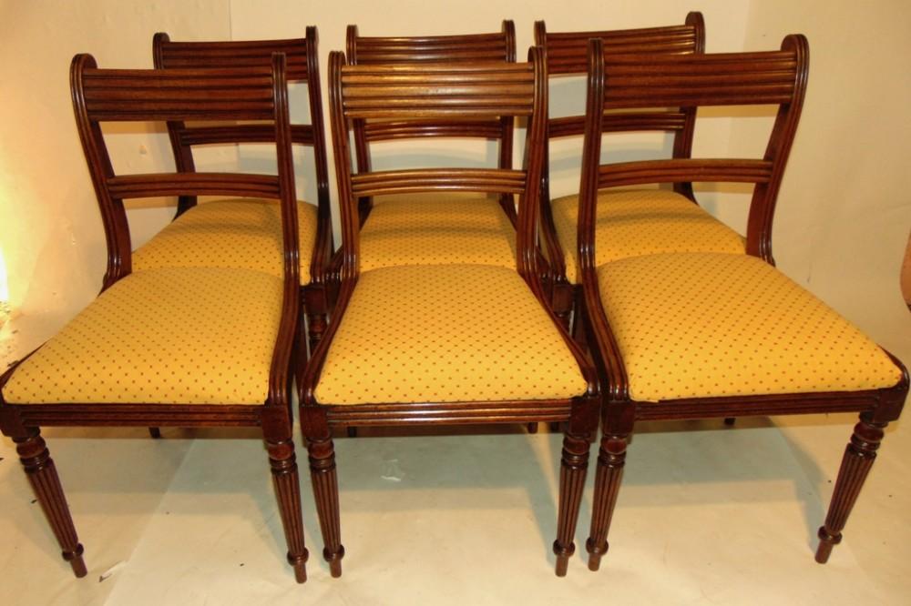 set 6 regency mahogany dining chairs circa 1820