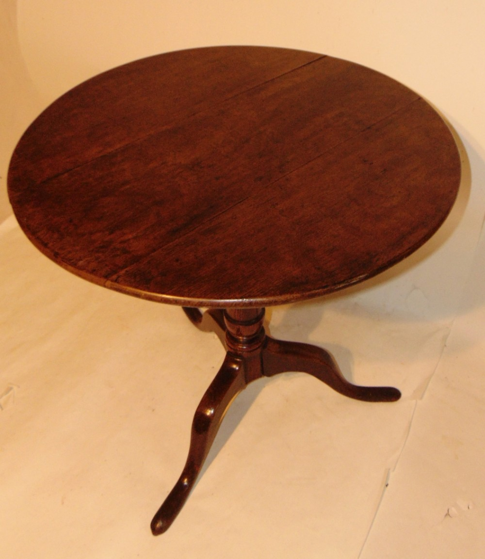 georgian oak tripod table circa 1780