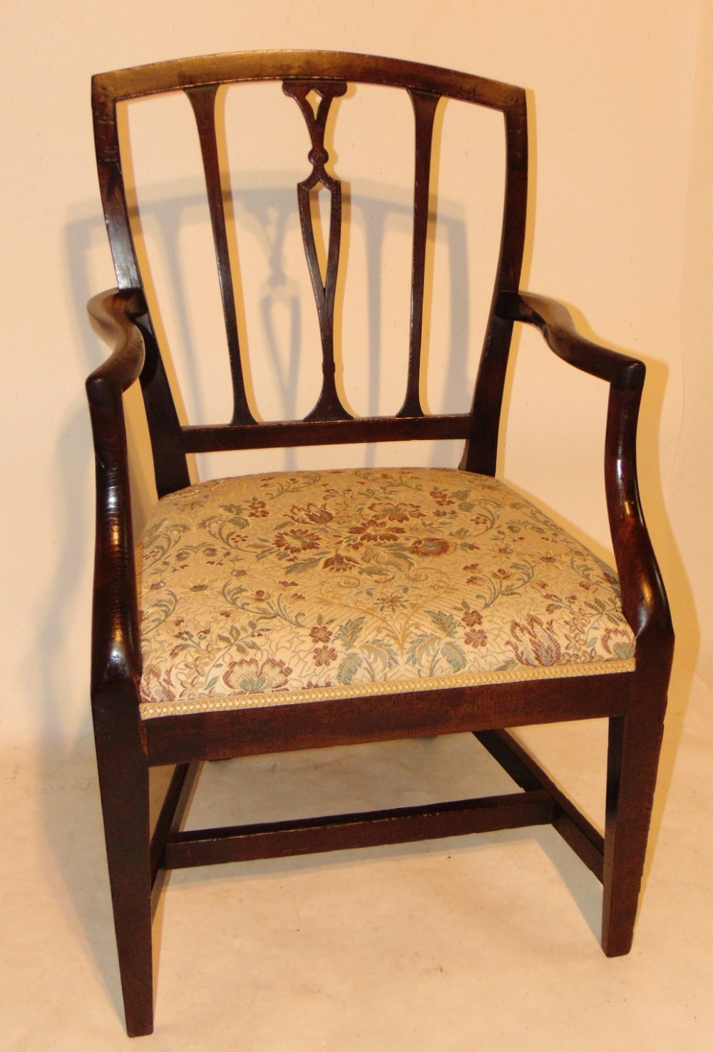 scottish georgian laburnum elbow chair circa 1780