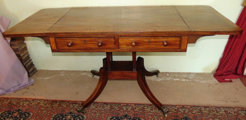 scottish georgian mahogany sofa table circa 1800