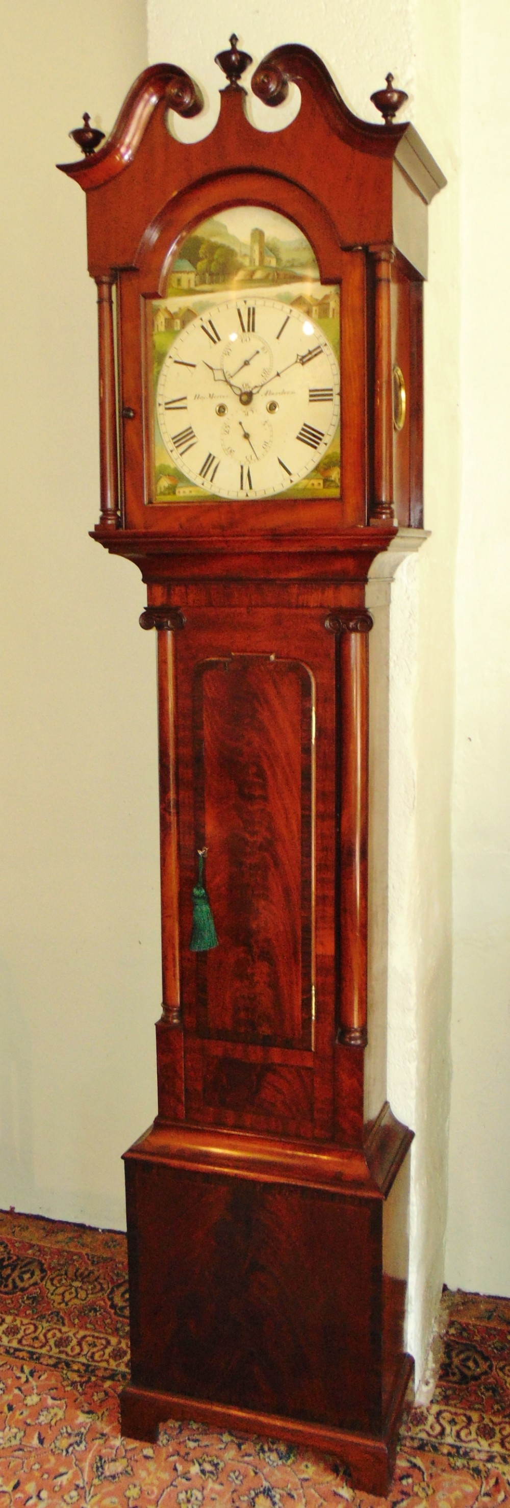 scottish georgian mahogany longcase clock circa 1825