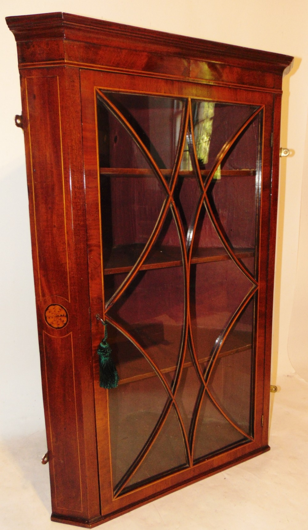 scottish georgian mahogany corner cabinet circa 1795