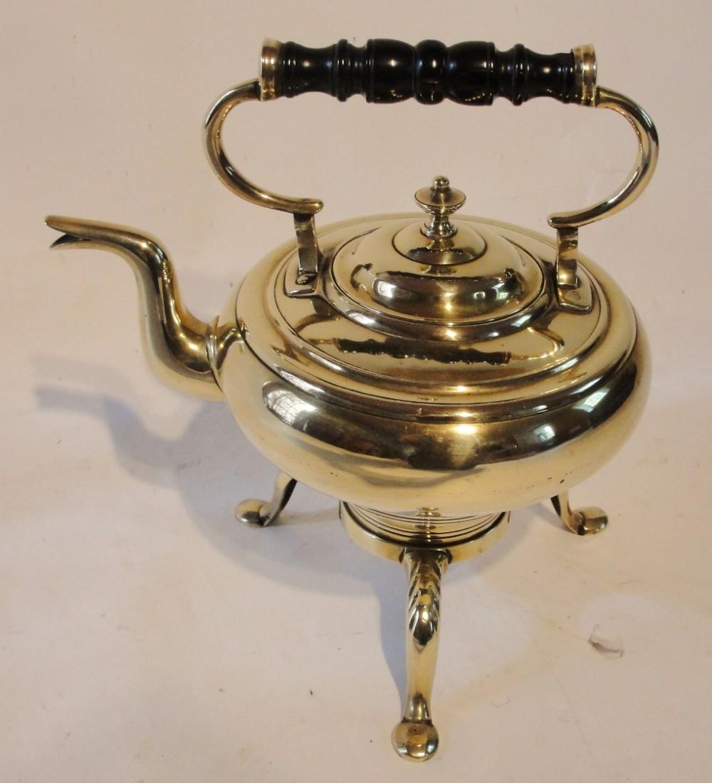 georgian brass kettle on stand circa 1790