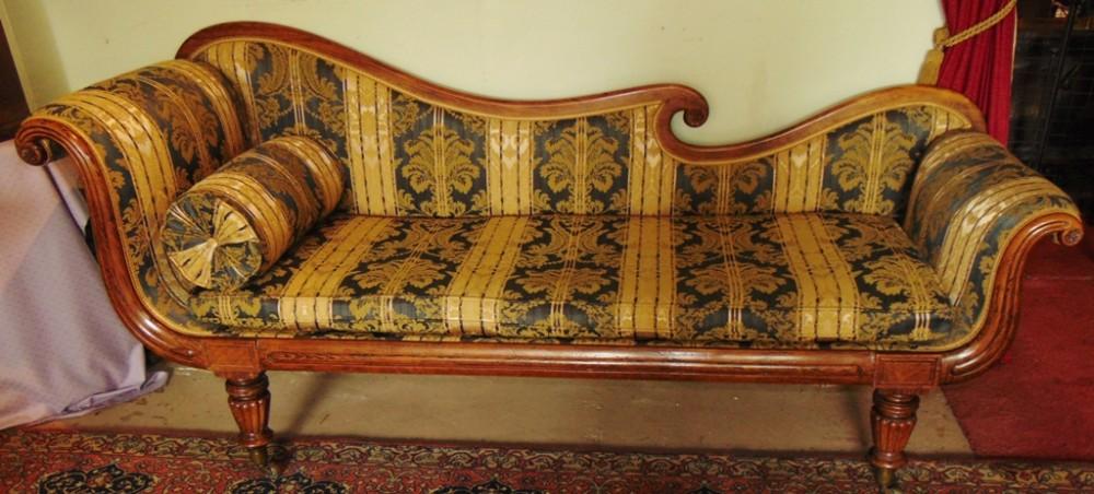 regency rosewood settee circa 1825
