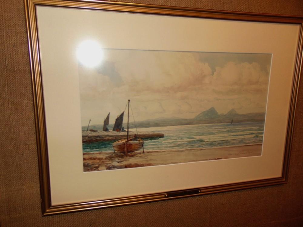 victorian watercolour w coast scotland by mcgregor wilson circa 1895