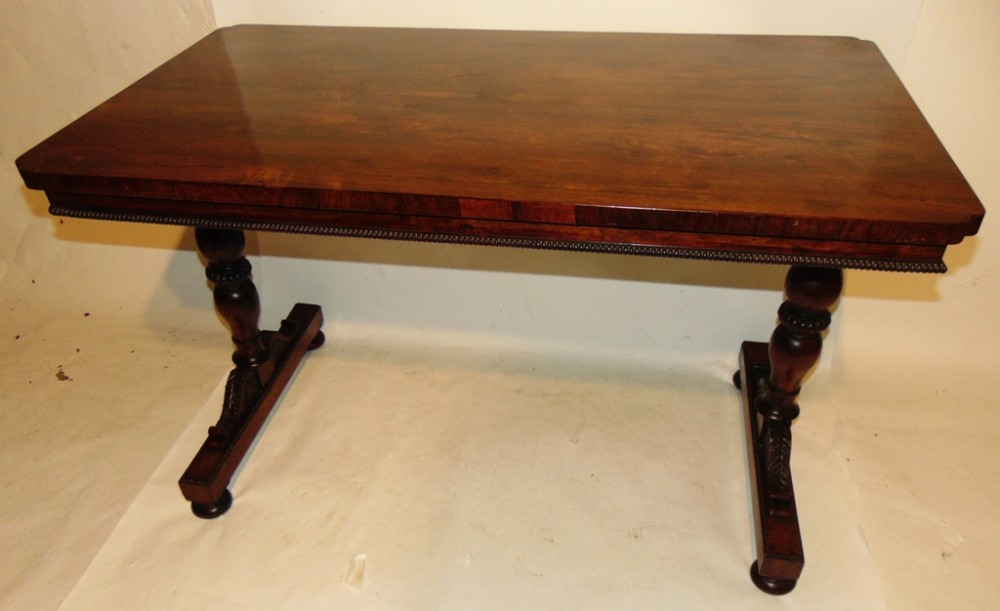 regency rosewood gillows library table circa 1825