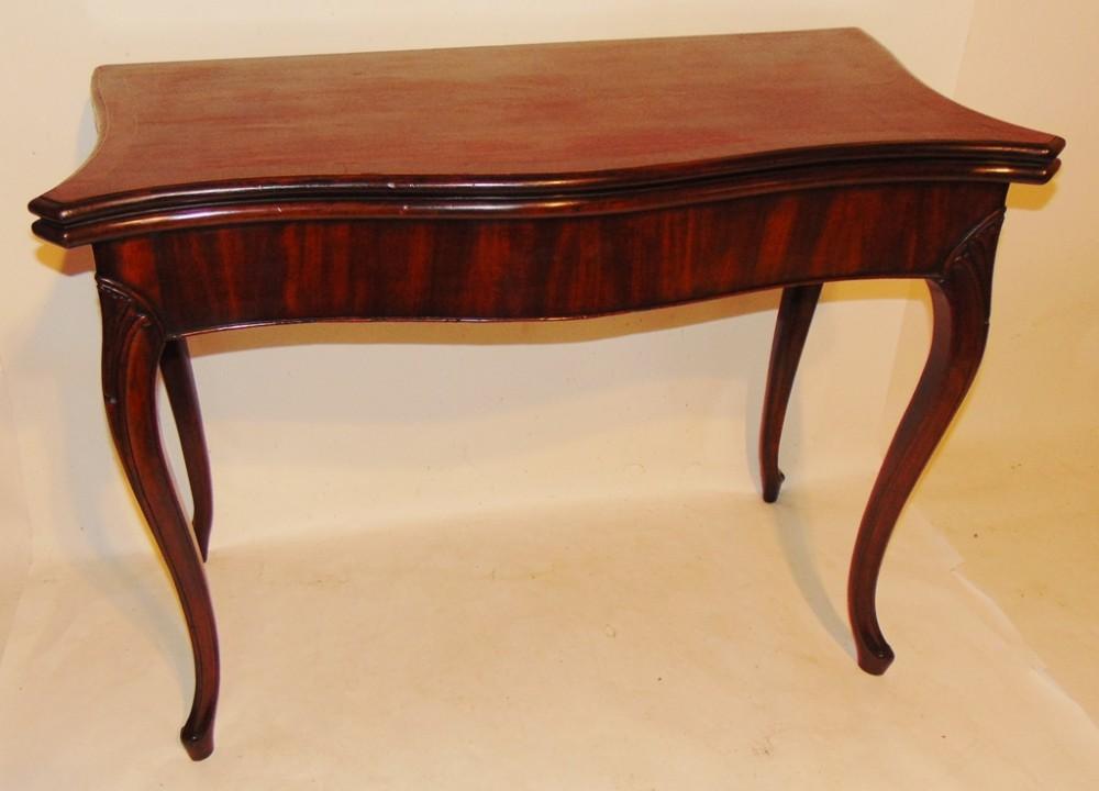 georgian mahogany french hepplewhite card table circa 1780