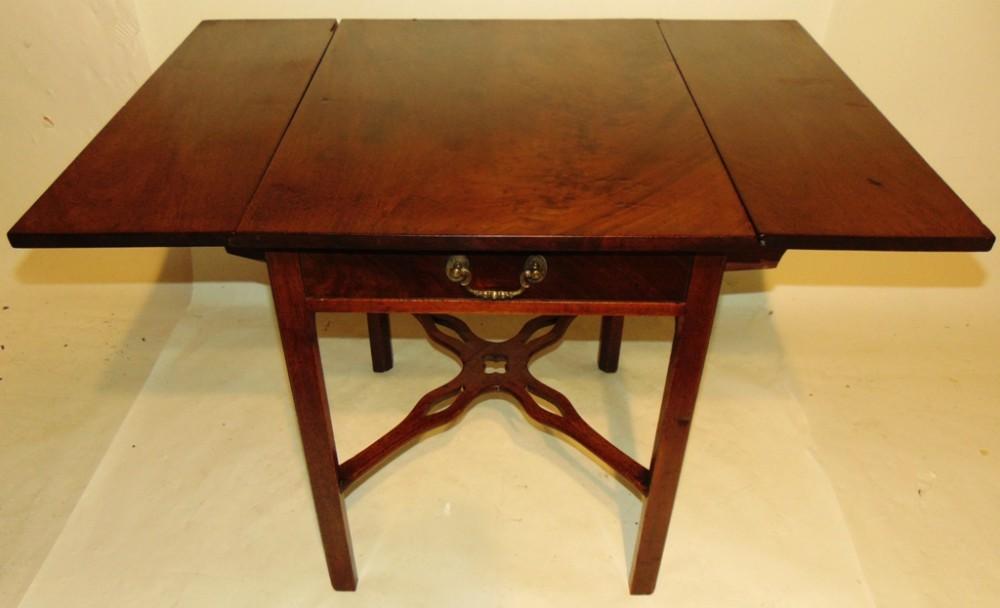 chippendale mahogany pembroke table circa 1765