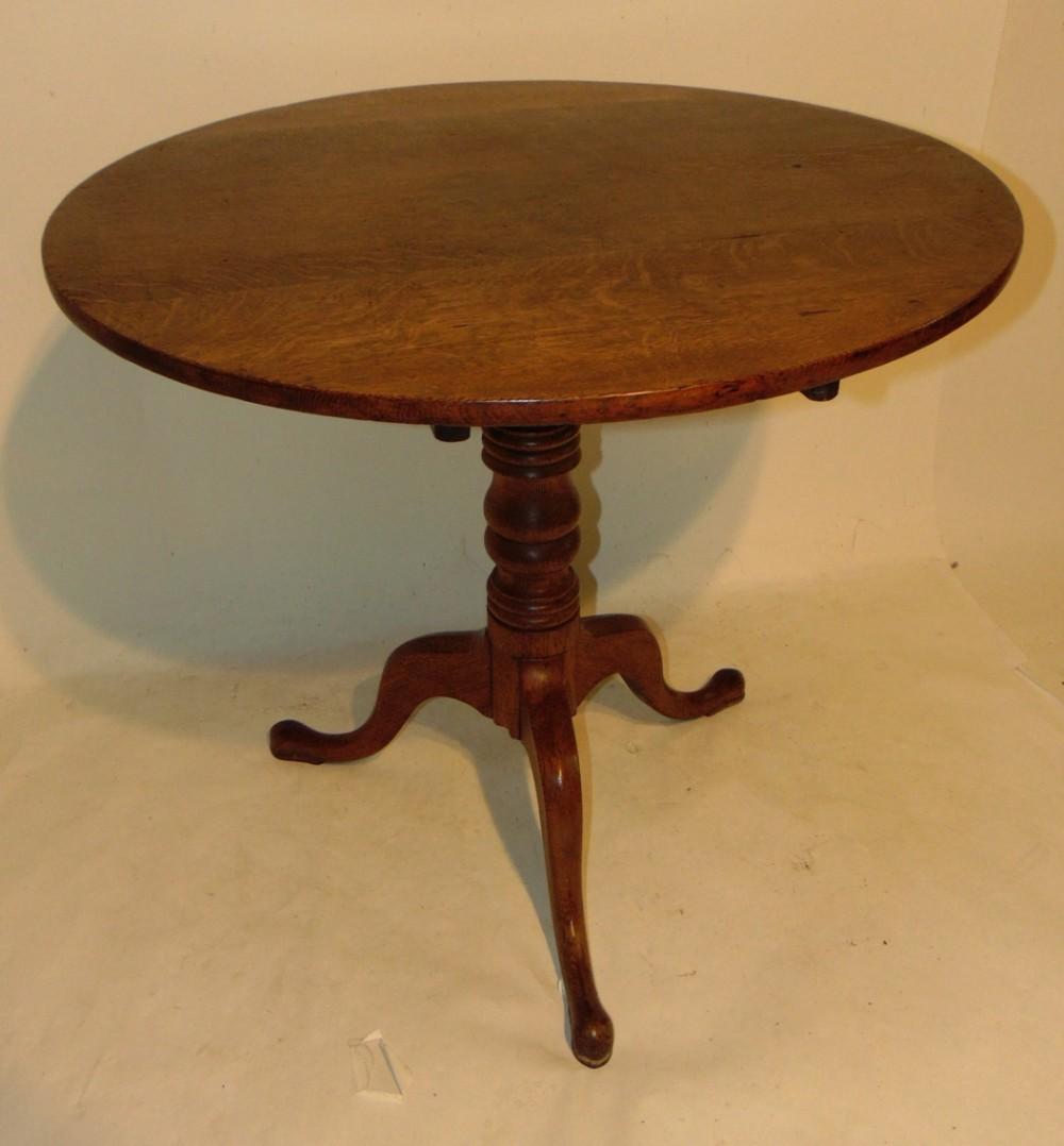 georgian oak tripod table circa 1810