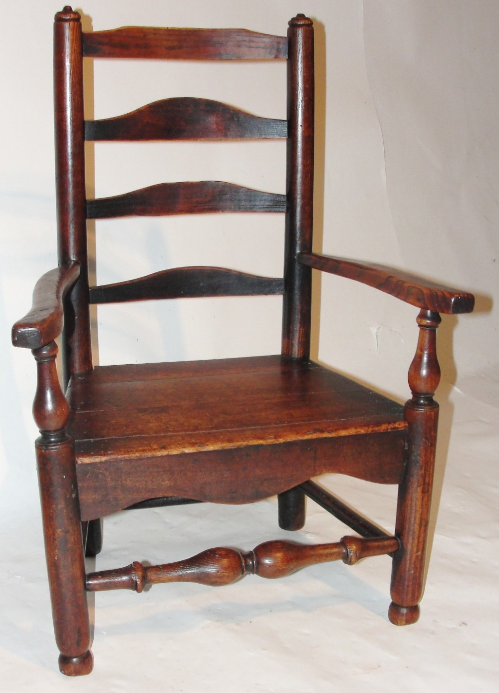 georgian elm ladder back child's chair circa 1800