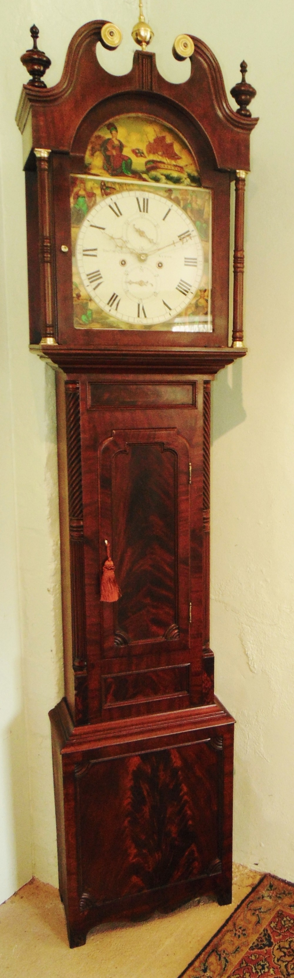 scottish georgian mahogany longcase clock circa 1830