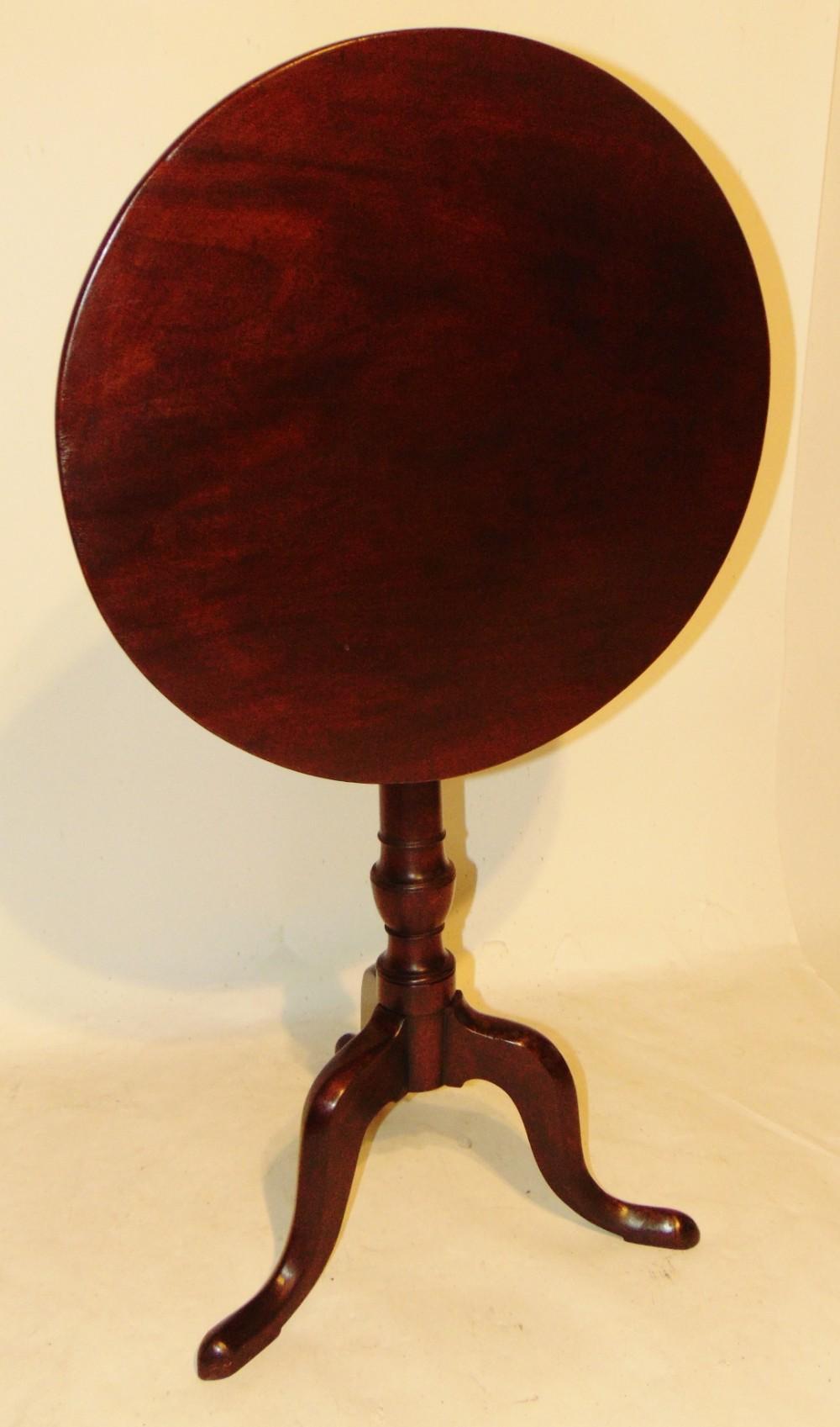 georgian mahogany tripod wine table circa 1775
