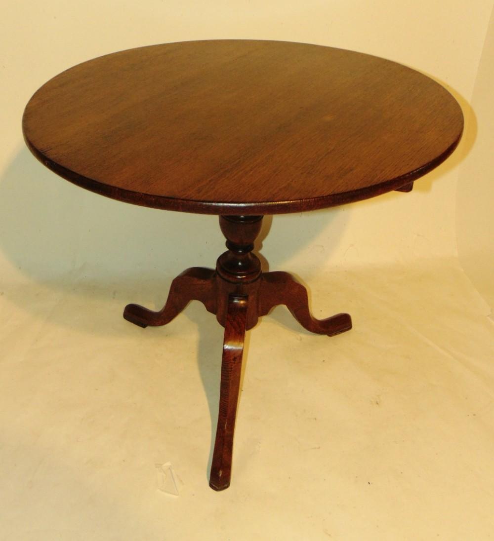 georgian oak tripod table circa 1780