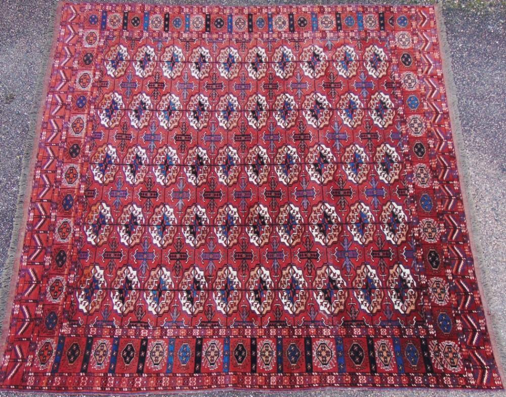 antique tekke turkoman carpet circa 1910
