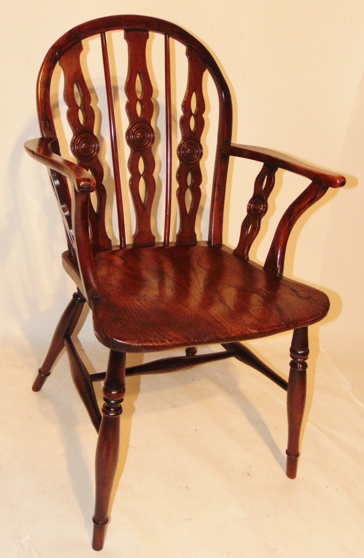 georgian yew wood windsor armchair circa 1780