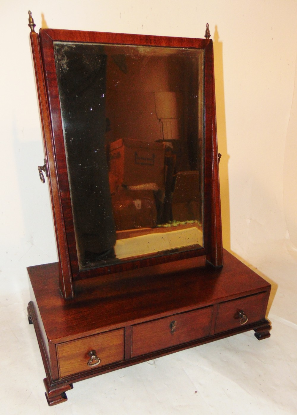 georgian mahogany toilet mirror circa 1780