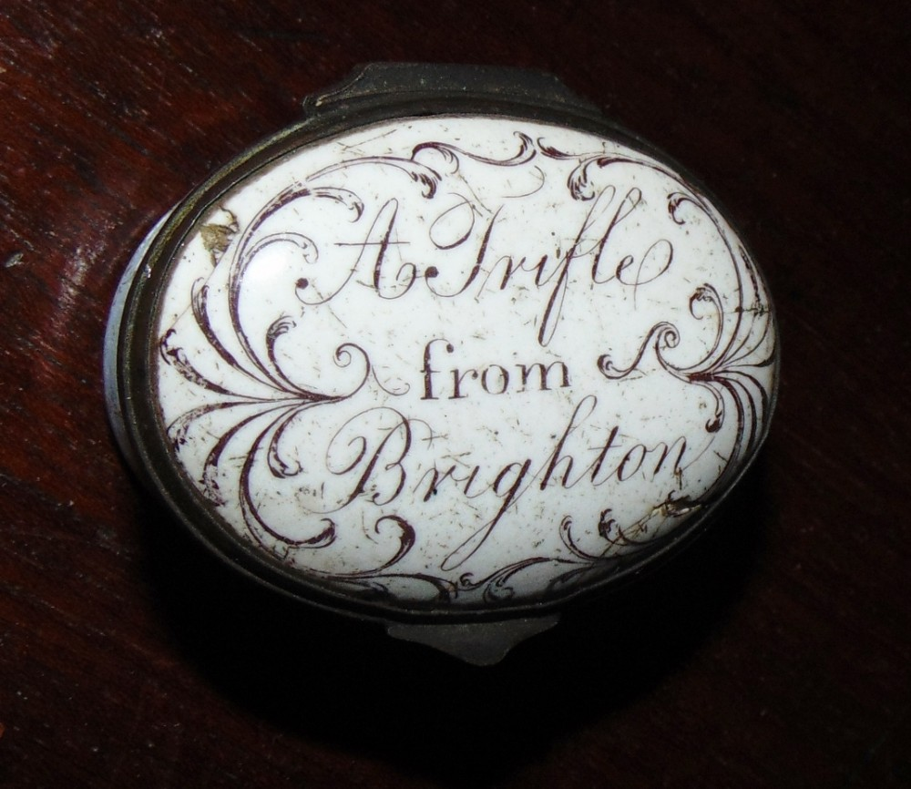 georgian battersea enamel oval patch box circa 1775